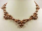 Pearl Elegance Beadwork Necklace Jewellery Making Kit with SWAROVSKI® ELEMENTS Bronze tones